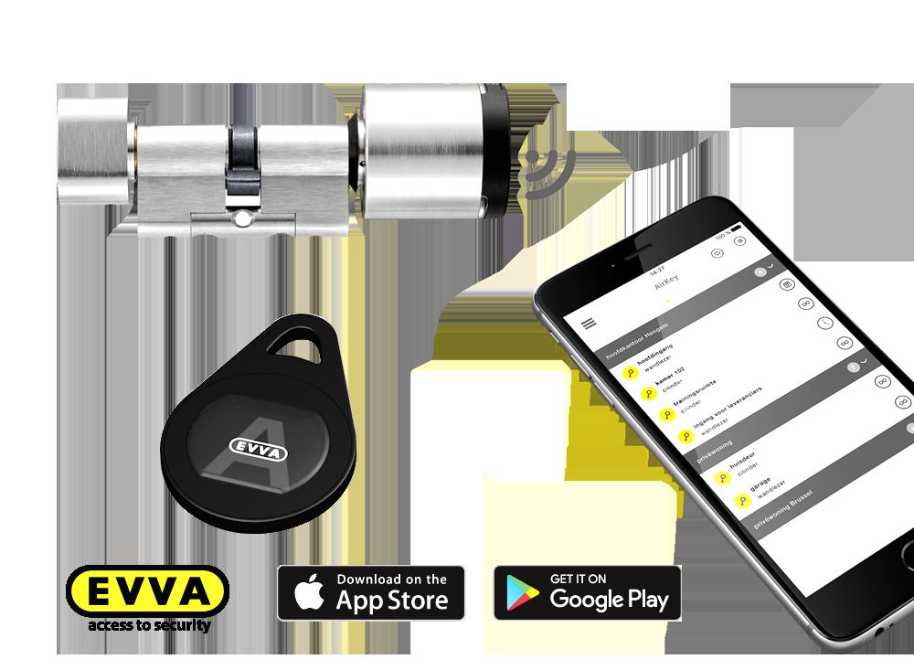 EVVA Airkey opent deuren met een smartphone